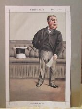 Vintage Print,STATESMEN OF THE DAY#101,Cavindish Bentinck, MP,1870