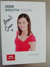Alexis Green BBC South Today News & Weather presenter hand signed photo card