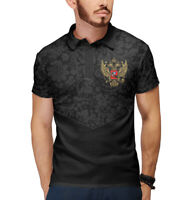 polo Double eagle - Russian symbol coat of arms Shirt Polo neck made in Russia