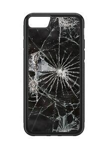 Broken Glass Pattern Print Rubber Phone Case
