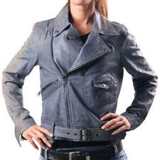 Autres vestes/blousons bleus en cuir pour femme