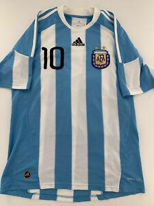 Argentina Adidas Soccer Jersey # 10 Lionel Messi AFA Futbol Argentine Size M