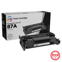 LD Compatible MICR Toner Cartridge Replacement for HP 87A CF287A (Black)