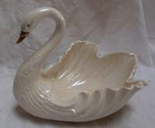 "Vintage Lenox China Swan Dish w/ Gold Beak 8 x 7"""