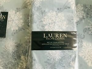Ralph Lauren Snowfall Blue Christmas Tablecloth Placemats & Napkins U Pick NEW