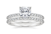Womens 1.75 CT Engagement RING Wedding BAND Set White Gold Plated SIZE 5-9
