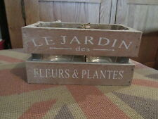 Rustic Shabby Chic Wooden Crate With Glass Candle Pots Le Jardin Des Fleurs