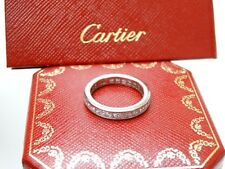 Cartier Platinum Princess Cut Diamond Wedding Eternity Band Ring 2.50CT Sz 52