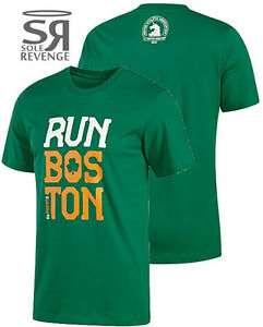 NEW Adidas Mens 2013 BOSTON MARATHON Irish Pride Tee Shirt Green Clover Ireland