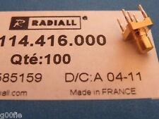 2 Pcs Radiall 50 ohm RF SMB Jack Receptacle R114416000 K021