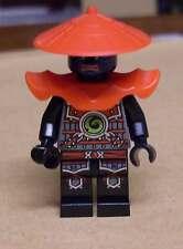LEGO NINJA Ninjago swordsman personaggio Nero Blu viso spada combattenti NUOVO