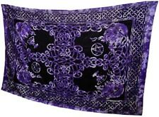 "Purple Celtic God Tapestry Blanket 72 x 108"" Wiccan Pagan Altar Supply WTCK"