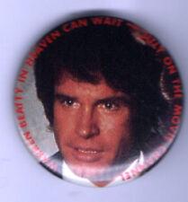 old WARREN BEATTY pin HEAVEN can WAIT button pinback