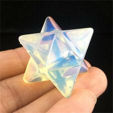 Carved Opal Merkaba Star Quartz Crystal Pendant Reiki Healing crystal decorate