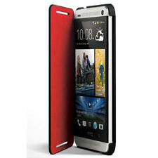 NEW GENUINE HTC HC V851 FLIP CASE COVER STAND FOR HTC ONE MINI M4 - BLACK RED