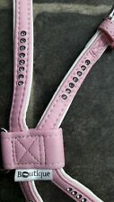 Dog Puppy Harness Pink Crystal Diamante Sparkle New