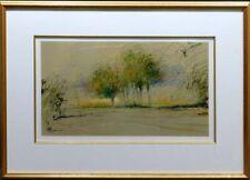 """Helen Zarin """"X-6"""" trees  Original Pastel on Paper W/Frame Make an Offer"""