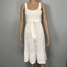 Catherine Malandrino White Crochet Knit Dress Women's Size Small