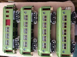 MTH trains standard gauge Passenger Cars 419, 418, 431, 490 green apple color