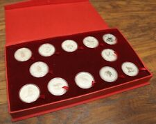 1999-2010 Australlia Silver Lunar Set 12 Coins with Red Box