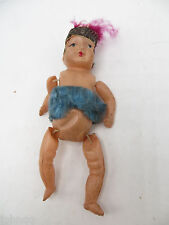 Vintage Celluloid 1920's Jointed Flapper Girl Doll - Made in Japan