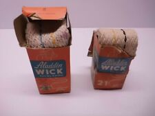 Aladdin Oil Lamp No.21 wicks (one new, one started)