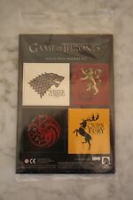 New 2015 Hbo Game of Thrones House Sigil Magnet Set Loot Crate Exclusive