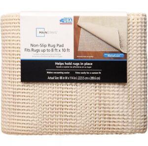 "Mainstays Non-Skid Rug Pad Off White, Ivory 8' x 10' 88"" x 114"""