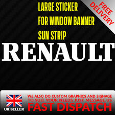 Renault Sticker Badge for Sun strip Vinyl Decal Banner Sponsor Visor clio