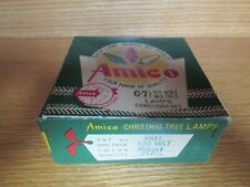 Vintage Amico Christmas Tree Lamps Bulbs Advertising Box