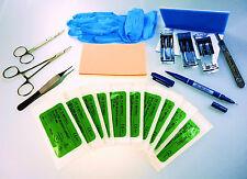 Pratica di sutura KIT PRO EXPERT dentista medico infermiera veterinario studente elemento di qualità NUOVO