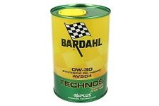 BARDAHL TECHNOS XFS C3 AV504 0W30 Olio Motore Lubrificanti Auto Lattina 1 Litro
