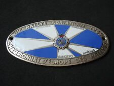 Rallye Adriatique 1959 plaque - Milano, Munich, Sarajevo; Yugoslavia, rally