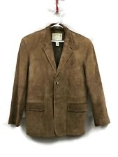 Orvis Suede Leather Blazer Jacket Suit Coat Size Large 42R