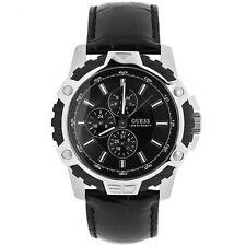 Guess W14558G1 Fibra Reloj de Hombre Correa Cuero Negro