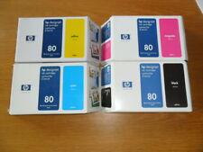 HP80 Farbe Set Satz 350ml c4871a c4846a c4847a c4848a Designjet 1050c 1055cm