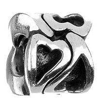 AUTHENTIC CHAMILIA 925 STERLING SILVER MELT MY HEART LOVE GA-74 CHARM BEAD NEW