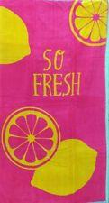 Tan frescas Cerise PINK Limón Jumbo Toalla de playa 100% Algodón Egipcio 90cm X 170cm