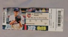 Minnesota Twins Vs Kansas City Royals 4/15/15 Ticket Stub