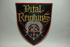 VITAL REMAINS SHIELD        EMBROIDERED  PATCH