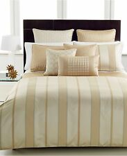 Hotel Collection Regal Stripe Full/Queen Duvet Cover Gold