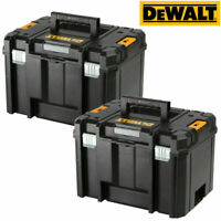 DEWALT TSTAK Boîte à outils 2-Valise Flat Top-TOUGH Durable-DWST 1-70703