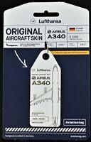 Aviation Tag  LH A340- DAIHR by FlapsFive original Flugzeug Rumpf - limitiert !