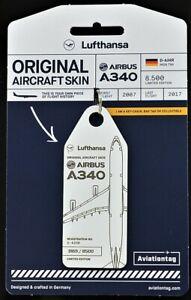 Aviationtag  LH A340- DAIHR by FlapsFive original Flugzeug Rumpf - limitiert !