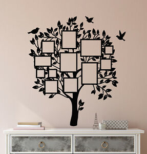 Vinyl Wall Decal Frame For Photos Family Tree Room Decoration Stickers (3004ig)