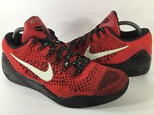 Nike Zoom Kobe 9 IX Elite Low University Red Black Mens Size 9.5 Rare 639045-600