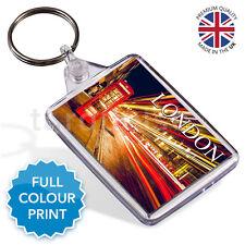 London UK Red Phone Box Souvenir Photo Gift Keyring Key Fob 50 x 35 mm | Medium