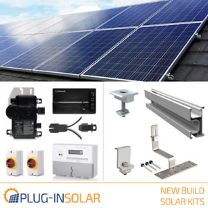 Plug-In Solar Power New Build Kit for Part L Building Regs with Tile/Slate Mount