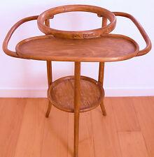 Table de toilettes,barbiére,en bois courbé,art nouveau +vasque de Lunéville