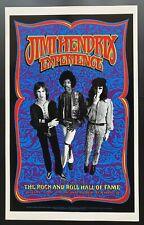 Jimi Hendrix Poster Rock Hall Fame Gray Grimshaw Signed